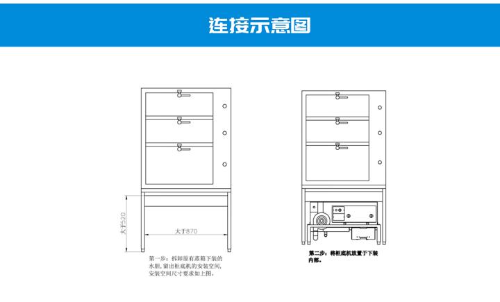 商用燃气节能柜底蒸汽机6