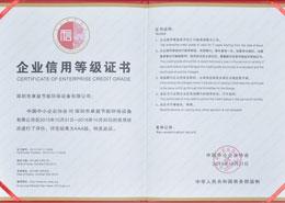 卓益荣誉-企业信用等级证书